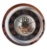 Ceas rotund perete cu mecanism vizibil