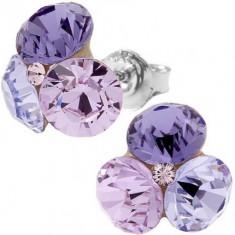 Cercei swarovski Tripple Xilion ss29 Violet