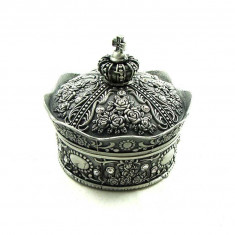 Caseta bijuterii metalica King's Crown - Cutie Bijuterii