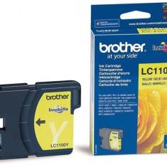 Cartus cerneala Original Brother Yellow LC1100Y compatibil... - Cartus imprimanta
