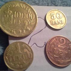 50 BANI, 1 LEU, 2, 10000 LEI 1947/2 SUPERBE+CADOU 100 LEI REGE MIHAI - Moneda Romania
