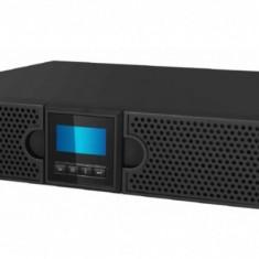 UPS Mustek 3000VA/ 2700W; PowerMust 3027 online LCD RM - display LCD; 8 prize IEC; incarcare 7 ore; acumulator 12V/ 9Ah x 6pcs; back-up 120W la...