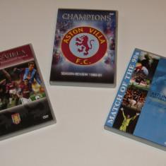Lot 3 DVD-uri fotbal de colectie - ASTON VILLA (Anglia) - DVD fotbal