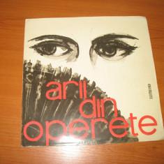 """Arii din operete (disc vinil 10"""" vinyl pickup)"""