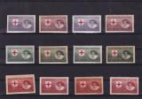 ROMANIA 1946  SERVICIUL PRIZONIERILOR DE RAZBOI HARTIE ALBA+HARTIE GRI SERII MNH, Nestampilat