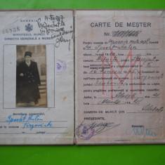 HOPCT ROMANIA REGAT CARTE DE MESTER SPECHT ANTON [EVREU] TARGOVISTE 1947, Romania 1900 - 1950, Documente