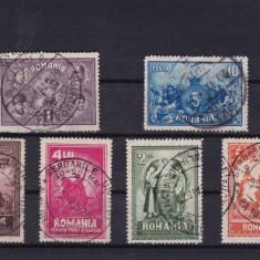 ROMANIA 1929 LP 82 - 10 ANI DE LA UNIREA TRANSILVANIEI SERIE STAMPILATA - Timbre Romania
