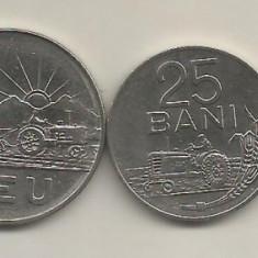 ROMANIA SET/ LOT 5 BANI + 15 BANI + 25 BANI + 1 LEU + 3 LEI 1966 [3] VF+ / XF - Moneda Romania, Fier