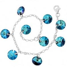 Multi Rivoli p 8 Bracelet blue cristale swarovski - Bratara Swarovski
