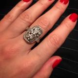 Inel de argint cu pietre semipretioase