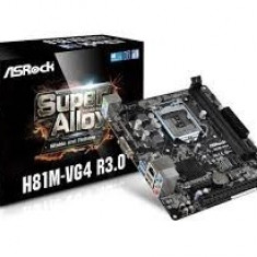 MB ASRock skt. 1150, Intel H81, 2*DDR3 1600/ 1333, VGA, 1* PCIe 2.0 x16, 1* PCIe 2.0 x1, 2* SATA3, 2* SATA2, 2* USB 3.0, 8* USB 2.0, Gigabit LAN, ... - Placa de Baza