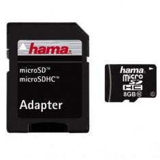 Card de Memorie HAMA Micro SDHC 8GB Clasa 10 + Adaptor SD - Card memorie