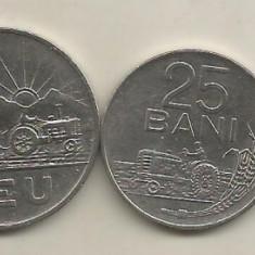 ROMANIA SET/ LOT 5 BANI + 15 BANI + 25 BANI + 1 LEU + 3 LEI 1966 [1] VF+ / XF - Moneda Romania, Fier