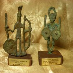 Set statuete Nuragice, Italia, modernist brutaliste, bronz, vintage