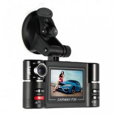 Camera Auto DVR Carway F30 Doua Camere, unghi 120, ecran LCD 2, 7