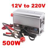 INVERTOR CURENT AUTO 500 Wati 12V (laptop,telefon) 500W