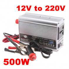 INVERTOR CURENT AUTO 500 Wati 12V (laptop, telefon) 500W