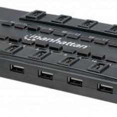 Hub USB Manhattan 3.0 extern, 28 porturi, incl. alimentare, Mondo Design, 4 Ports USB 3.0 + 24 Ports USB 2.0, Retail Box