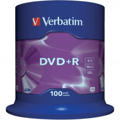 DVD+R Verbatim SL 16X 4.7GB 100PK SPINDLE MATT SILVER