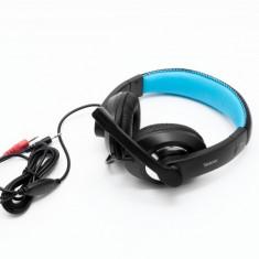 CASTI Spacer stereo cu microfon pe fir, jack 3.5mm, black, gaming