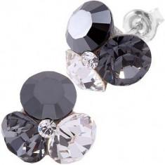 Cercei swarovski jethematite Tripple Xilion ss34 Black & White