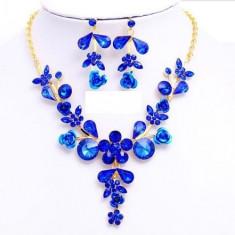 Bijuterii sultana blue crystal