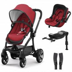 Set Kiddy Evostar 1 cu scoica auto Evoluna i-Size Ruby Red - Carucior copii 2 in 1