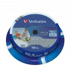BD-R Verbatim SL LTH 6X 25GB 10PK SPINDLE WIDE PRINTABLE