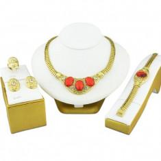 Bijuterii turcesti cu cristale rosii