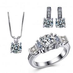 Bijuterii argintii cu cristale