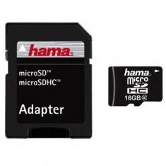 Card de Memorie HAMA Micro SDHC 16GB Clasa 10 + Adaptor SD - Card memorie