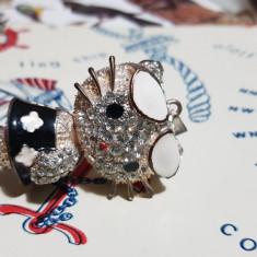 Pandativ Disney cu cristale foarte stralucitoare 5x3 cm fashion cat - Colier fashion