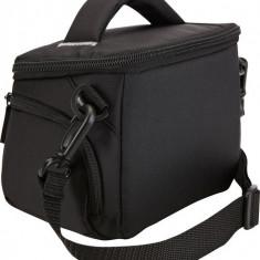 Geanta camera foto/video Case Logic, buzunar frontal, 2 buzunare laterale, nylon, black
