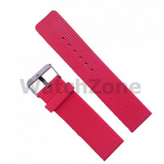 Curea ceas silicon rosie 22mm WZ962