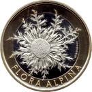Elvetia 10 Franken 2018 -(Flora Alpina - Silberdistel) Bi-Metallic, 33mm UNC !!!, Europa