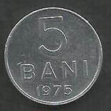 ROMANIA RSR 5 BANI 1975 [3] XF , livrare in cartonas, Aluminiu