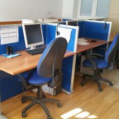 Mobilier birou - insula modulara 6 lucuri cu 6 scaune