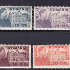 ROMANIA 1945 LP 166 FUNDATIA CAROL SERIE MNH - Timbre Romania, Nestampilat