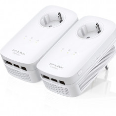 Kit Adaptor Powerline AV1200, priza AC, 3x Gigabit, TP-LINK