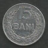 ROMANIA   RSR    15  BANI  1975   [4]    livrare in cartonas, Aluminiu