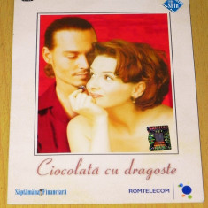 DVD Ciocolata cu dragoste - Juliette Binoche, Alfred Molina, Johnny Depp - Film romantice, Romana
