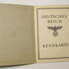 Buletin Carte de identitate 1944 Germania nazista vultur cu svastica