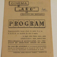 "Program Cinema ""ARO"" Ploiesti"