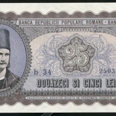Y367 ROMANIA 25 LEI 1952 serie albastra UNC NECIRCULATA - Bancnota romaneasca
