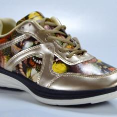 Adidasi de dama cu model culoare gold masuri 37 38 39 40 41 - Adidasi dama, Culoare: Din imagine, Piele sintetica