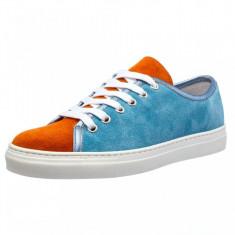 Adidasi dama Ucu Dima, Cod:3150.16 celeste/arancio (Culoare: Albastru, Marime Incaltaminte: 38)