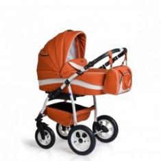 Carucior 3 in 1 copii 0-3 Ani Germany Orange - Carucior copii 3 in 1 MyKids