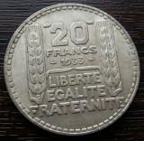 (A49) MONEDA DIN ARGINT FRANTA - 20 FRANCS 1933, 20 GRAME, Europa
