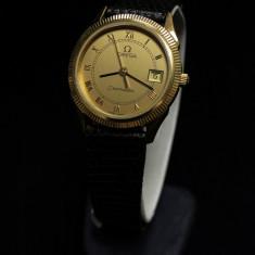 Ceas de aur Omega Seamaster (0145) - Ceas dama Omega, Elegant, Quartz, Piele, Data