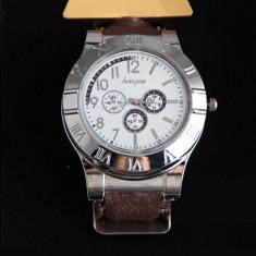 Ceas cu bricheta USB Lighter Watch (culoare curea: maro) - Ceas barbatesc, Casual, Quartz